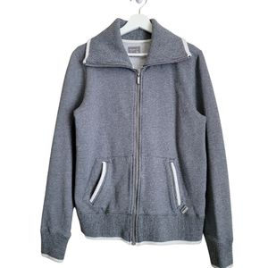 Roots 73 Full Zip Sweater Jacket Gray Large